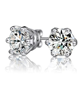 Silver Blossom Stud Earrings Made With SWAROVSKI ELEMENTS