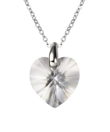 Silver Heart Pendant Necklace Made With SWAROVSKI ELEMENTS