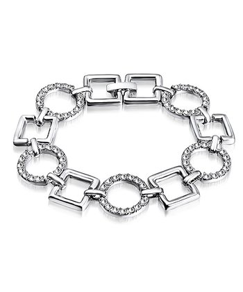 Silver Crystal Square Bracelet Made With SWAROVSKI ELEMENTS