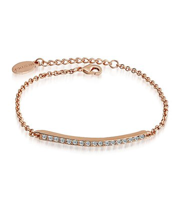 Gold Crystal & Rose Gold Bar Bracelet Made With SWAROVSKI ELEMENTS