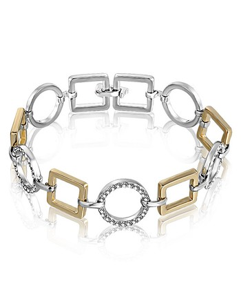 Silver & Gold Crystal Bracelet Made With SWAROVSKI ELEMENTS