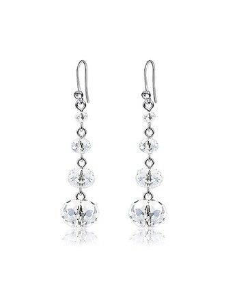 Silver Crystal Drop Earrings Made With SWAROVSKI ELEMENTS