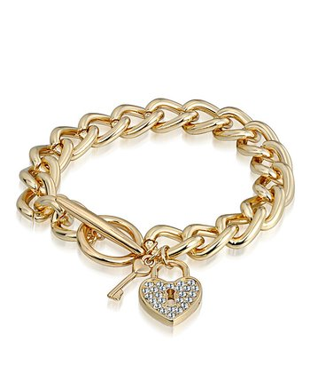 Crystal & Gold Key Bracelet Made With SWAROVSKI ELEMENTS
