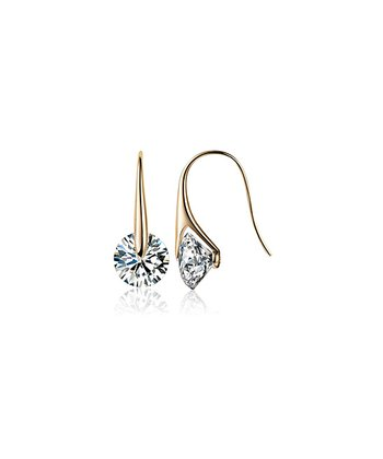 Gold & Crystal Drop Earrings Made With SWAROVSKI ELEMENTS