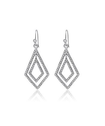 Silver Crystal Geometric Earrings Made With SWAROVSKI ELEMENTS
