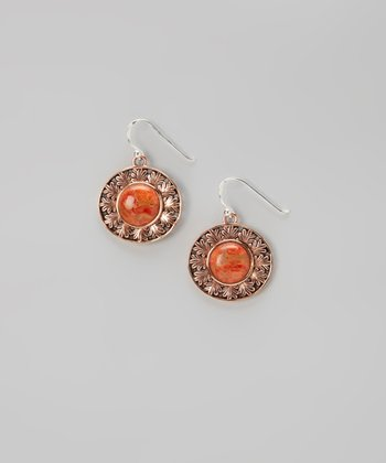 Copper & Coral Drop Earrings