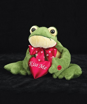 Green Prince Charming Frog 'Kiss Me' Plush Toy