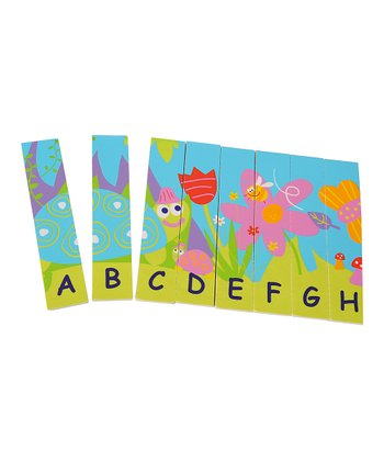 Eco-Friendly Wooden Double-Sided Alphabet Puzzle
