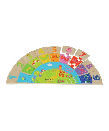 Eco-friendly Wooden Rainbow Number Set