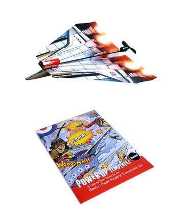 Electric Paper Airplane & Template Kit