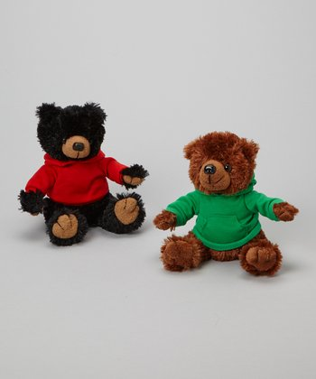 Holiday Hoodie Bear Plush Toy Set
