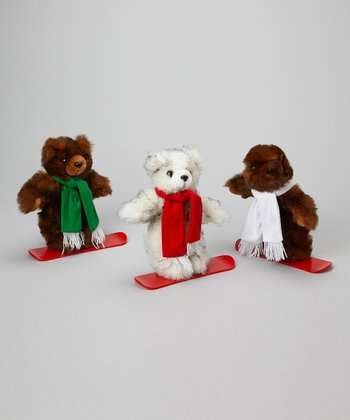 Snowboard Plush Toy Set