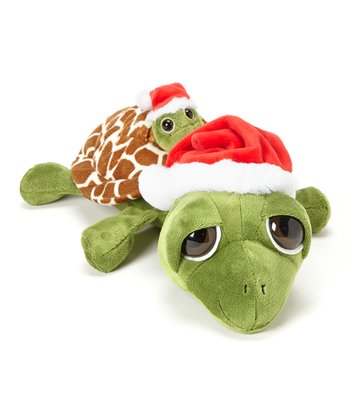 Pocketz Christmas Turtle Plush Toy