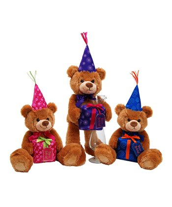 Happy Birthday Mookah Bear Plush Toy Set