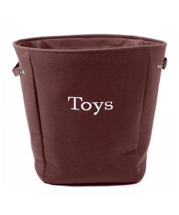 Brown 'Toys' Canvas Storage Basket