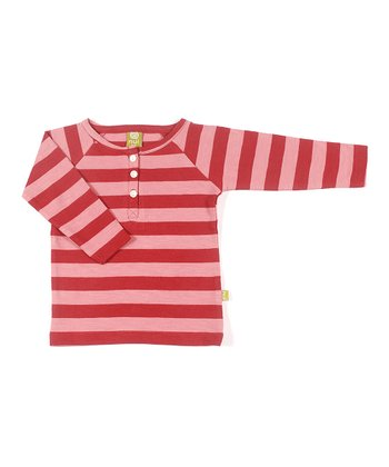 Rust Stripe Crab Organic Henley - Infant