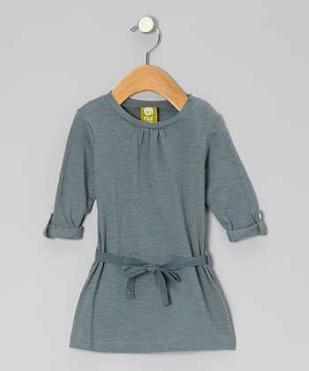 Teal Charlie Organic Swing Dress - Infant