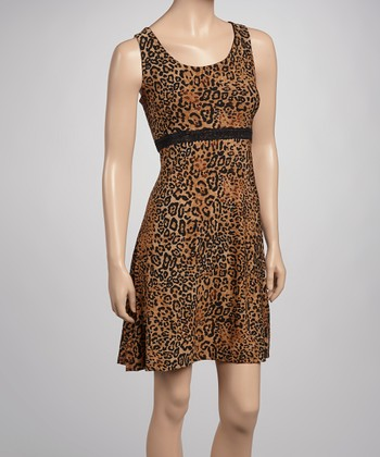 Brown & Black Leopard Lace Chemise - Women & Plus