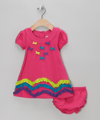 Pink Bow Dress - Infant & Girls