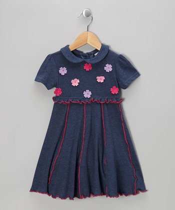 Blue Flower Peter Pan Dress - Infant, Toddler & Girls