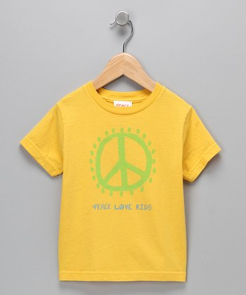 Yellow Peace Sign Tee - Toddler & Kids