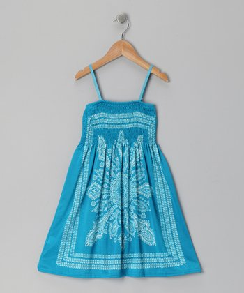 Blue Paisley Convertible Dress