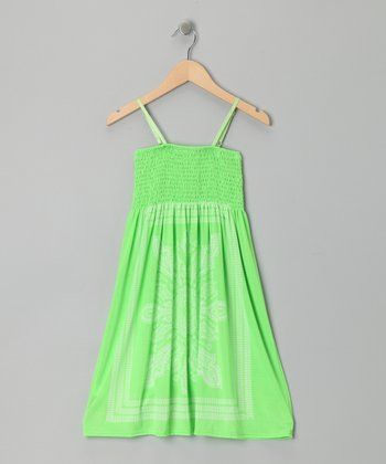 Green Paisley Convertible Dress
