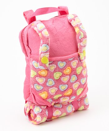 Pink Doll Backpack & Sleeping Bag