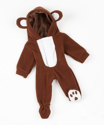 Bear Cub Footie Sleeper 18'' Doll Outfit