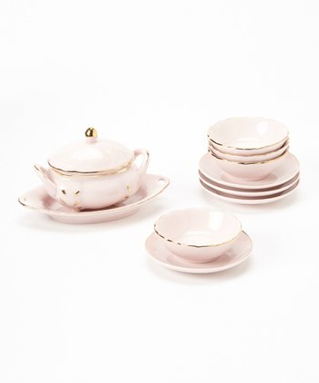 Pink Doll Soup Tureen & Dish Set
