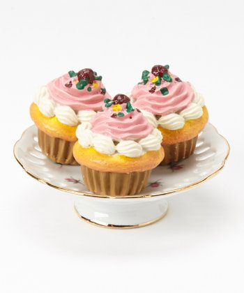 Rose Doll Cupcake & Cake Plate Set