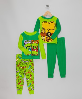 Green Shell Teenage Mutant Ninja Turtles Pajama Set - Toddler