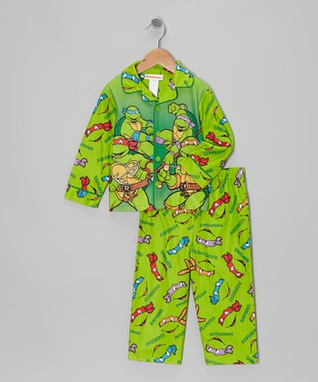Light Green Teenage Mutant Ninja Turtles Pajama Set - Toddler
