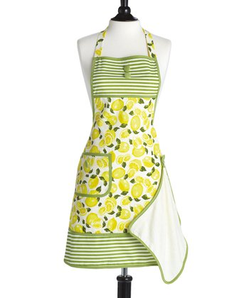 Summer Lemons Gigi Bib Apron & Towel - Women