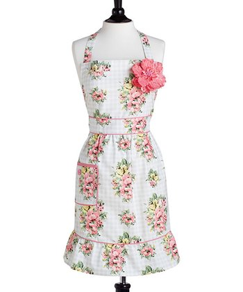 Gingham Floral Courtney Apron - Women