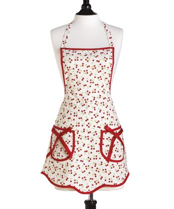 Retro Cherries Apron - Women