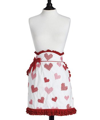 Cross Stitch Hearts June Apron - Women