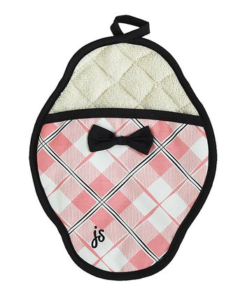 Pink Plaid Pot Holder