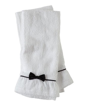 Black Bow Terry Towel - Set of Two