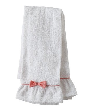 Pink Bow Terry Towel - Set of Two
