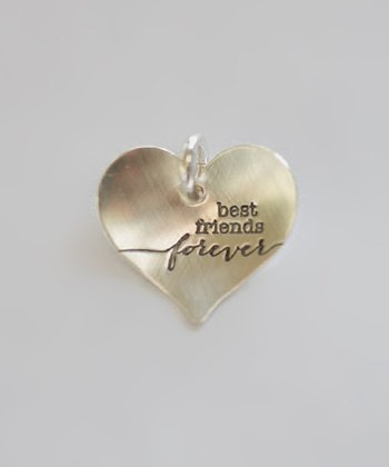 Sterling Silver 'Best Friends Forever' Heart Charm