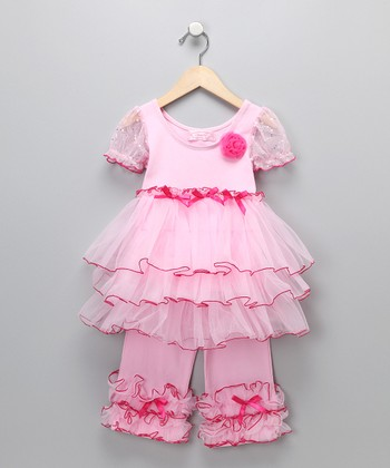 Pink Ruffle Dress & Pants - Infant & Toddler