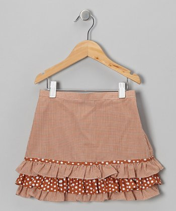 Burnt Orange Ruffle Skirt - Toddler & Girls