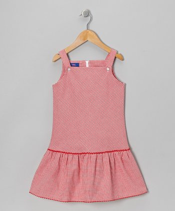Red Gingham Jumper - Toddler & Girls