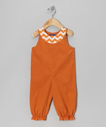 Orange Gingham Bubble Playsuit - Infant