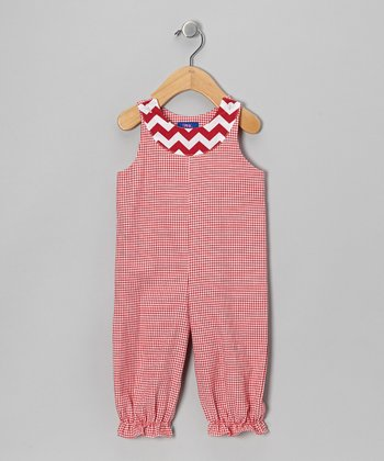 Red Gingham Bubble Playsuit - Infant
