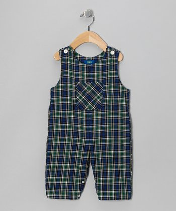 Royal Plaid Overalls - Infant & Toddler