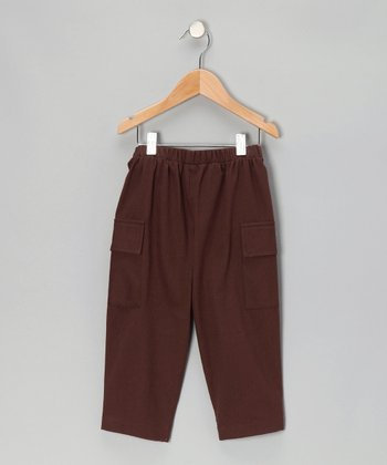 Brown Twill Cargo Pants - Infant, Toddler & Boys