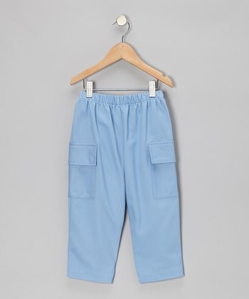 Party Blue Twill Pants - Infant, Toddler & Boys