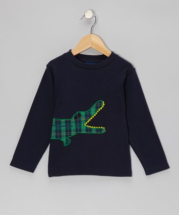 Blue Crocodile Tee - Boys